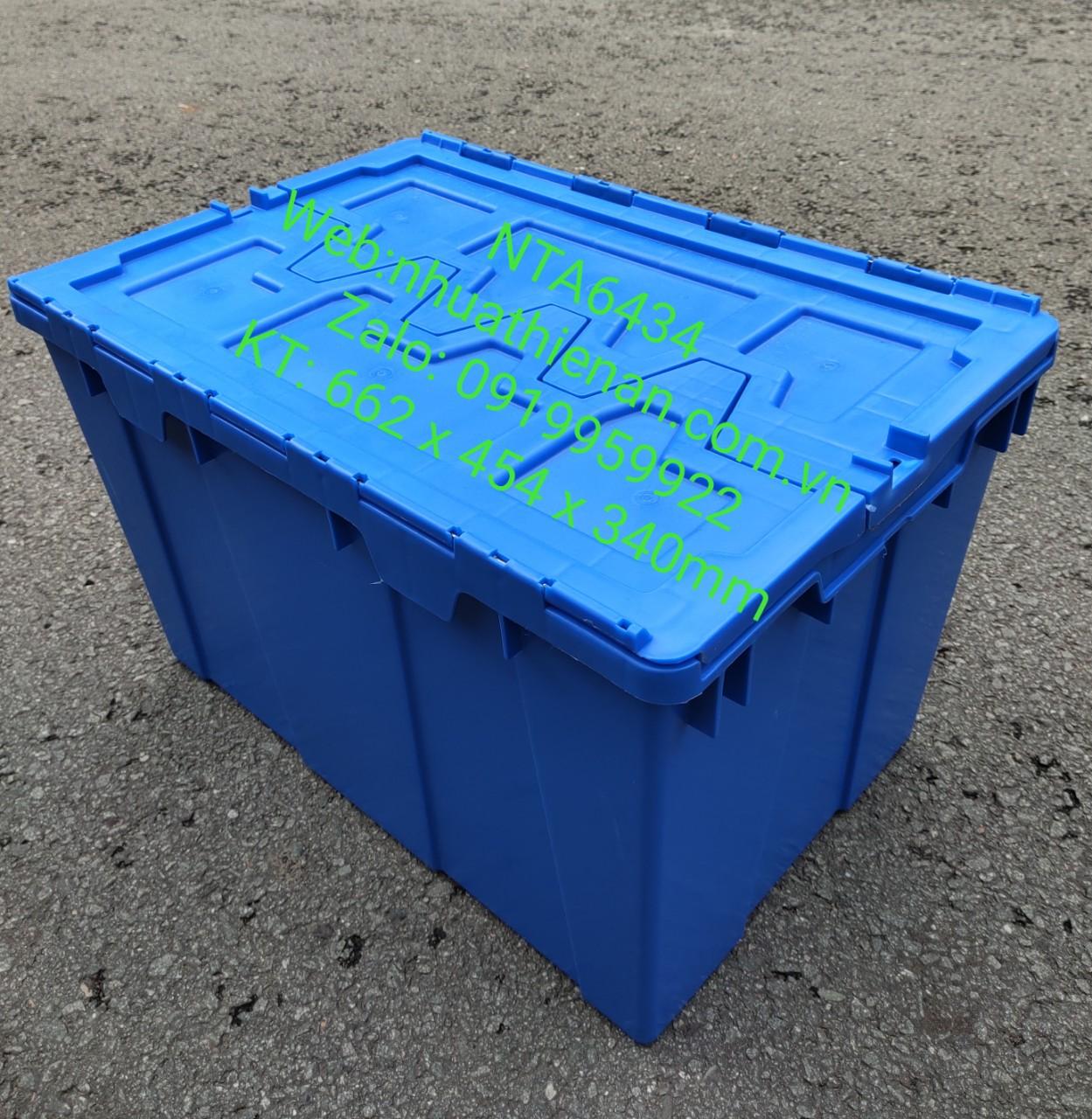 Thùng Nhựa Có Nắp NTA6434 KT:662x454x340mm
