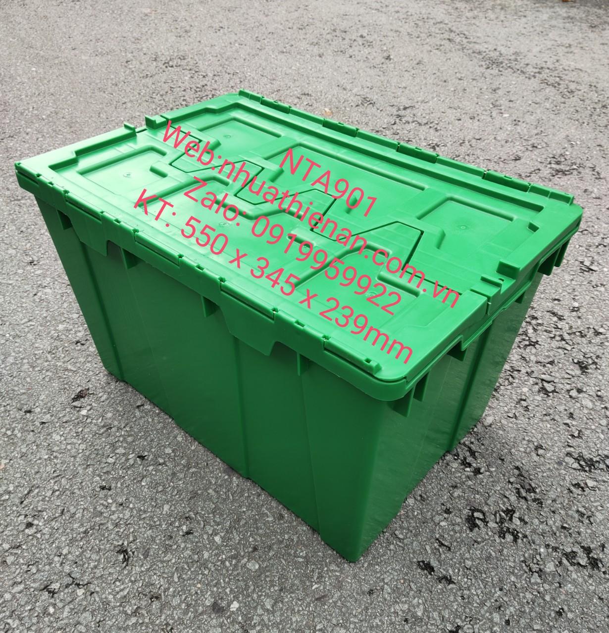 thùng Nhựa Có Nắp NTA901 KT:550x345x239mm