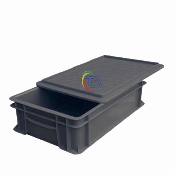 Thùng Nhựa Đặc B2 Chống Tĩnh Điện KT: 455x270x120mm