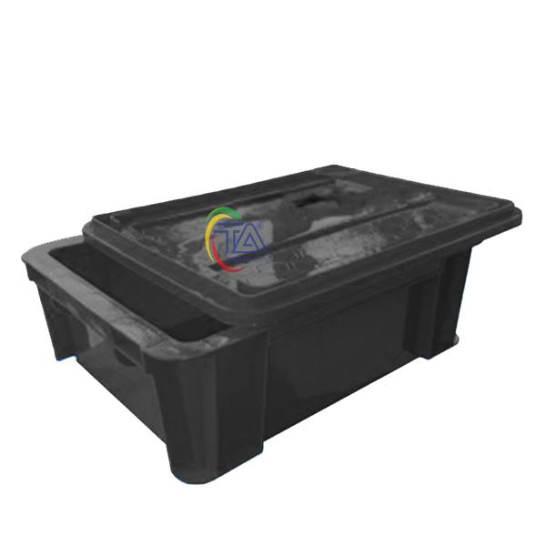 Thùng Nhựa Đặc B7 Chống Tĩnh Điện KT: 370x280x125mm
