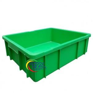 Thùng Nhựa Đặc B9 Màu Xanh Lá