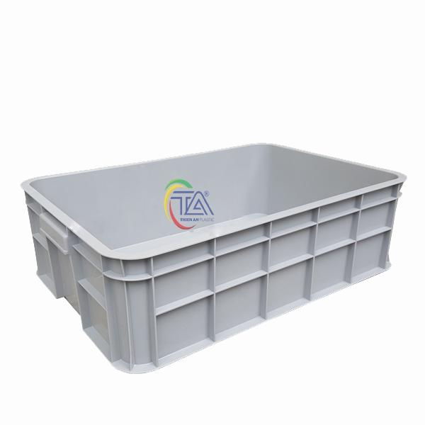 Thùng Nhựa Đặc Hs003|Sóng Bít 1T9 KT:610x420x190mm