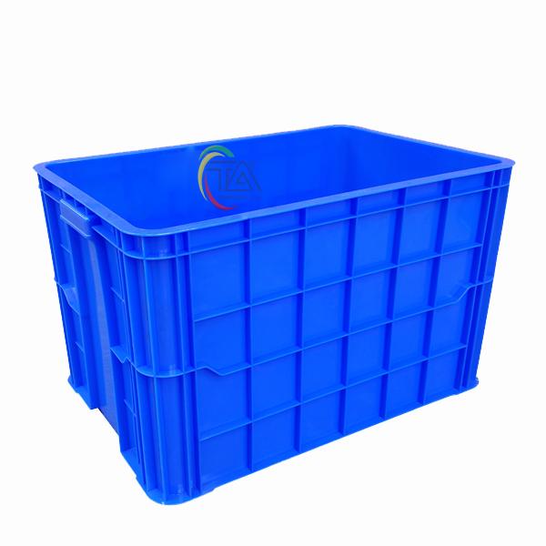 Thùng Nhựa Đặc HS026|Sóng Bít 3T9 KT:610x420x390mm