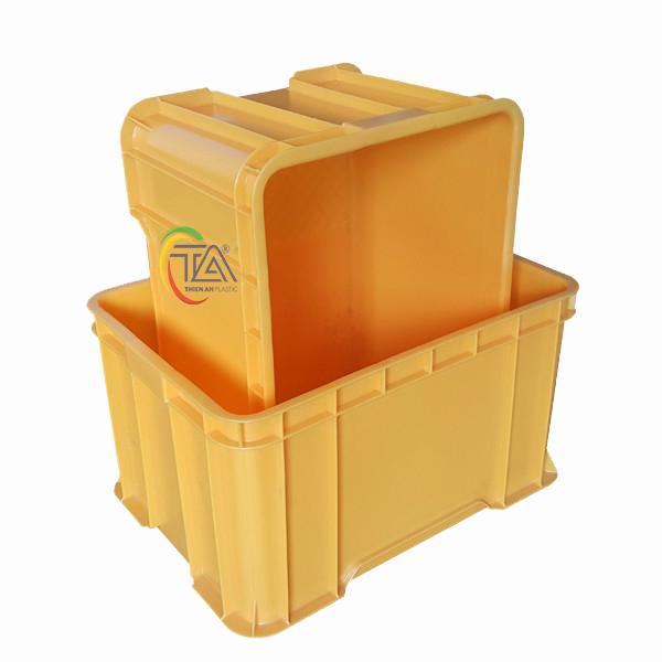 Thùng Nhựa Đặc TMC 406 KT : 555x395x310mm