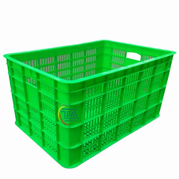 Thùng Nhựa Rỗng 8TR|Sóng Hở 3T6 KT:610x420x360mm