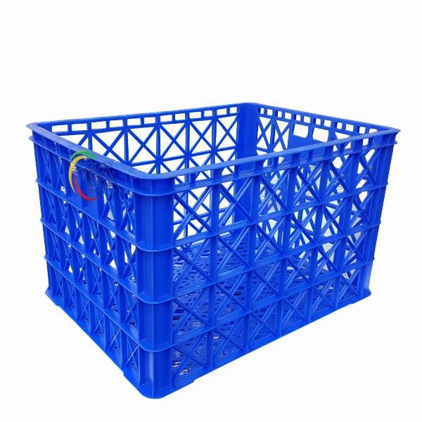 Thùng Nhựa Rỗng HS022|Sóng Hở 8 Bánh Xe KT:850x630x525mm