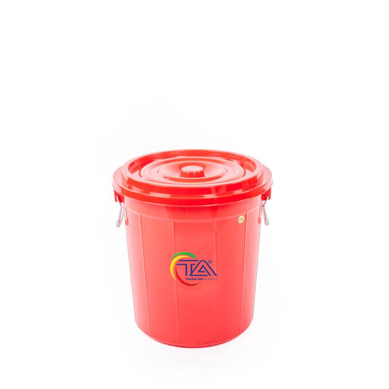 Thùng Nhựa Tròn Có Nắp 35 Lít  KT : 390x390xH415mm