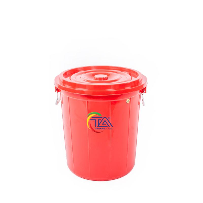 Thùng Nhựa Tròn Có Nắp 45 Lít   KT : 435x435xH460mm