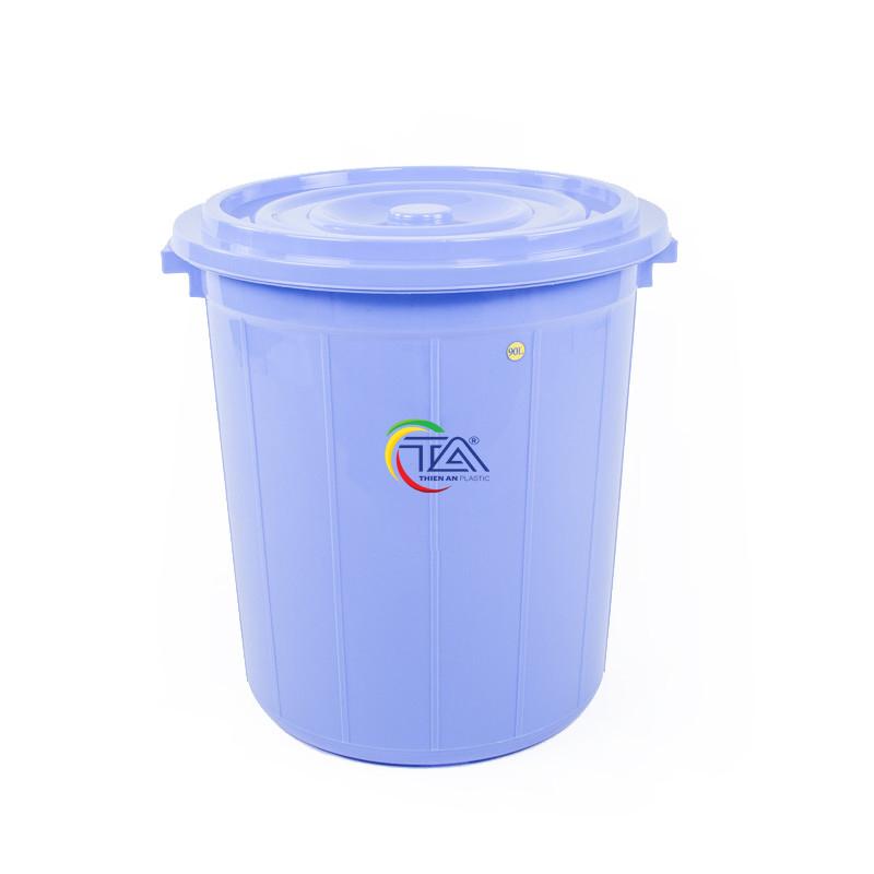 Thùng Nhựa Tròn Có Nắp 90 Lít  KT : 550x540xH580mm