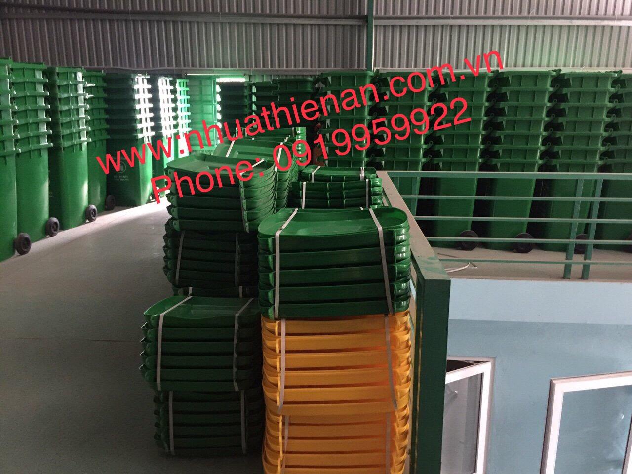 Thùng Rác Nhựa HDPE 120 Lít Thiên Ân