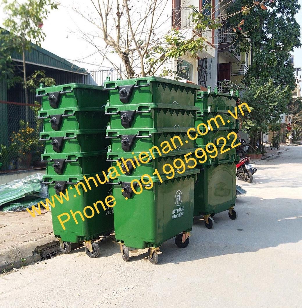 Thùng Rác Nhựa HDPE 660 Lít Thiên Ân