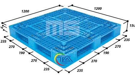 Pallet Nhựa N4-1212-Pro