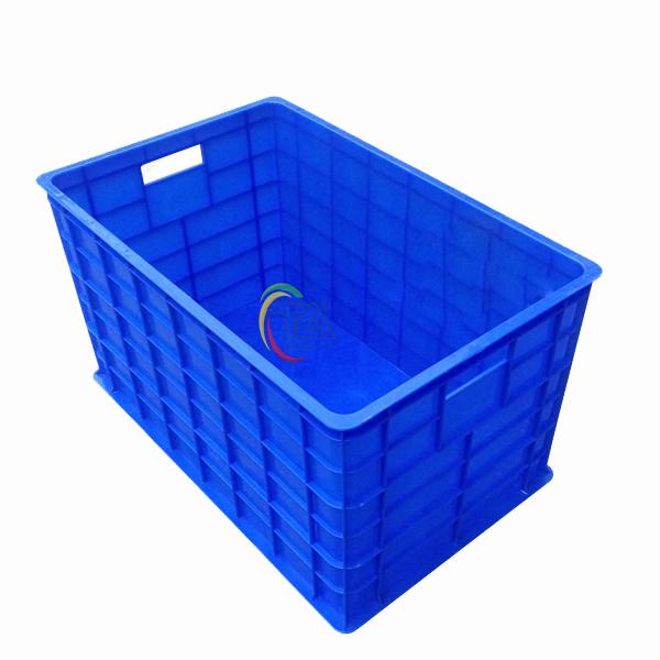 Thùng Nhựa Đặc 5 Bánh Xe|Sóng Bít 5 Bánh Xe KT:775x495x425mm