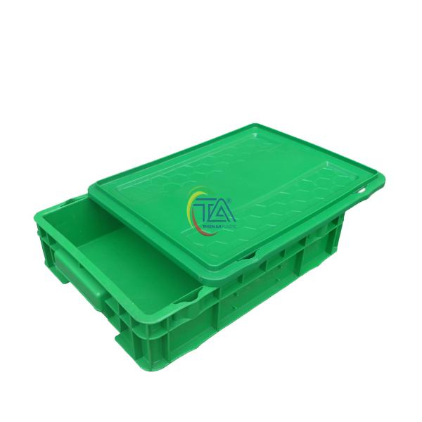 Thùng Nhựa Đặc DSC 204 KT:425x610x88mm
