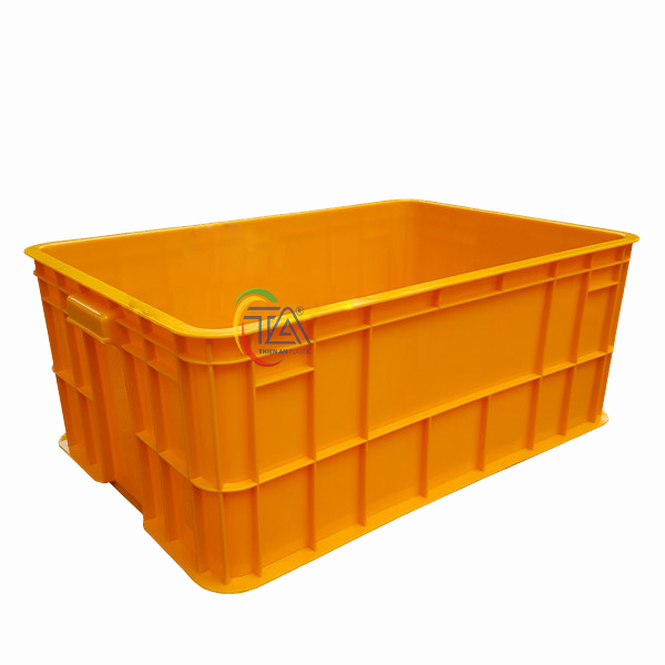 Thùng Nhựa Đặc HS017|Sóng Bít 2T5 KT:610x420x250mm