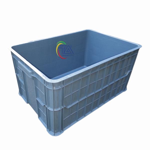 Thùng Nhựa Đặc HS019|Sóng Bít 3T1 KT:610x420x310mm