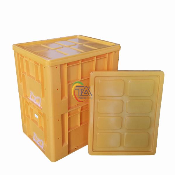 Thùng Nhựa Đặc TTC 433 KT : 480x380x295mm