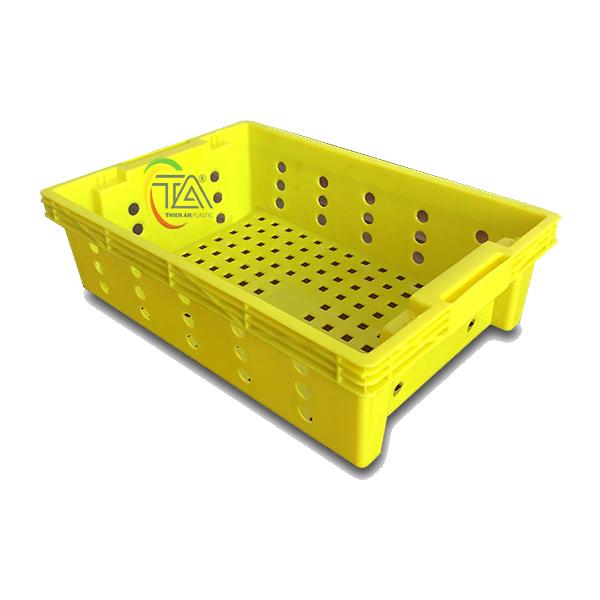 Thùng Nhựa Rỗng HS002|Sóng Cá KT:525x355x150mm