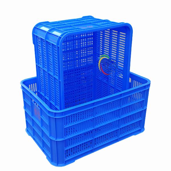 Thùng Nhựa Rỗng HS004|Sóng Hở 3T1 KT:610x420x310mm
