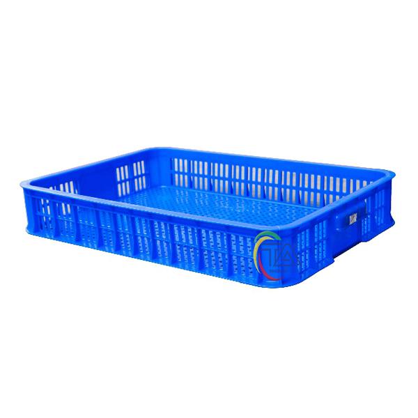 Thùng Nhựa Rỗng HS010|Sóng Hở 1T KT:610x420x100mm