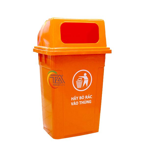 Thùng Rác Nhựa 90l Nắp Hở KT: 550x420x900mm